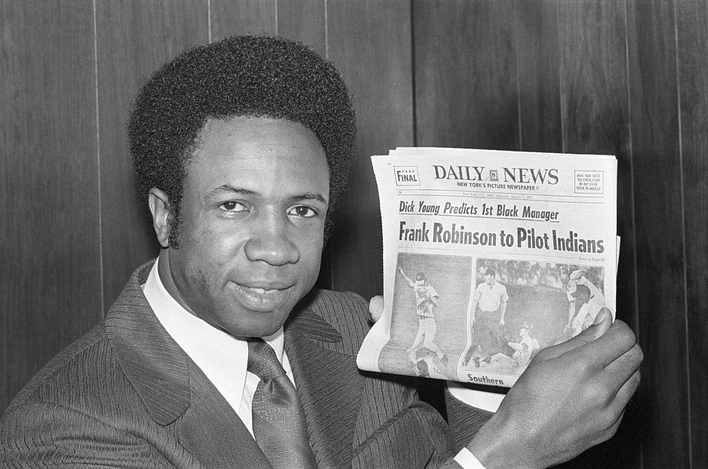 frank robinson player manager first african american