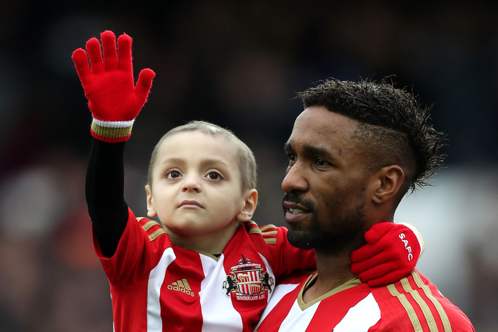 jermain defoe bradley lowery charitable footballer soccer players