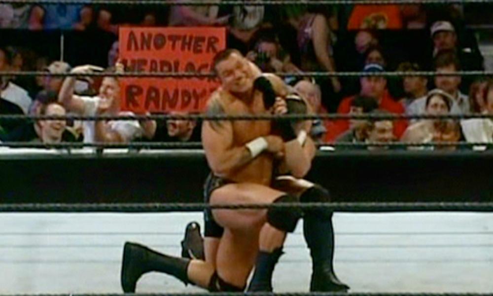 another headlock randy wwe funny fan signs