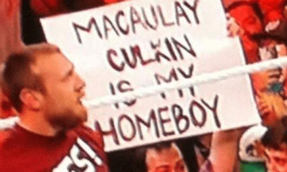 macaulay culkin homeboy wwe funny signs