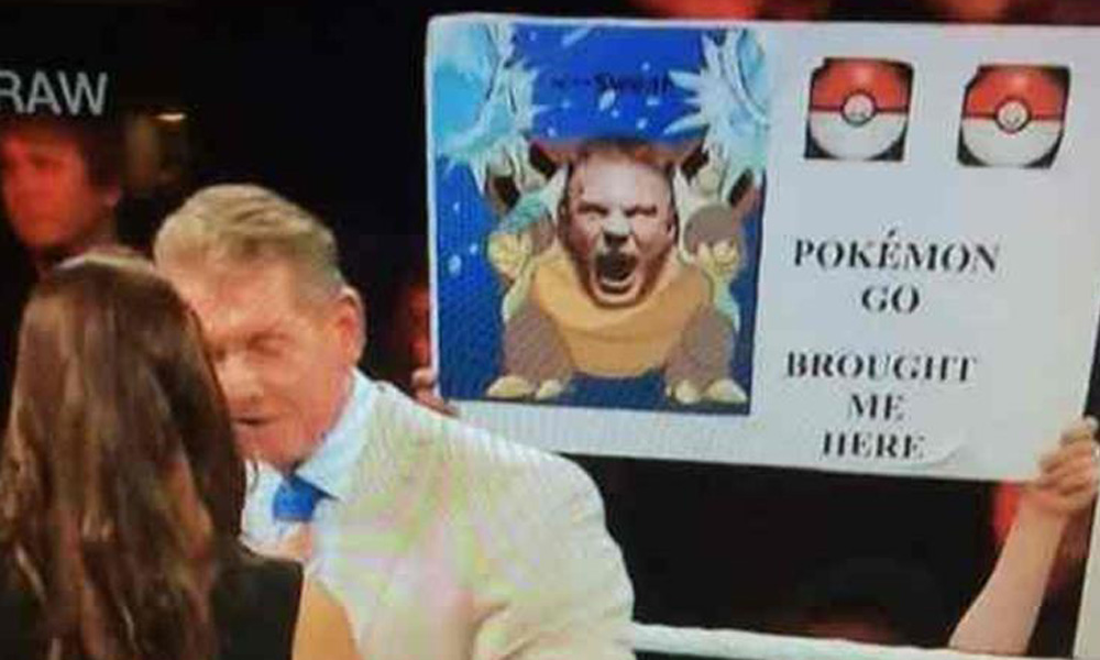 pokemon go brought me here wwe funny sign