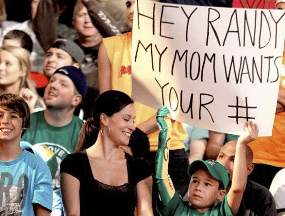 randy orton fan sign wwe funny signs