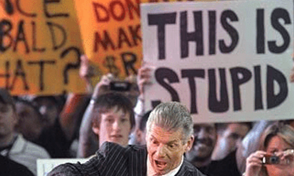 stupid sign wwe funny fan signs