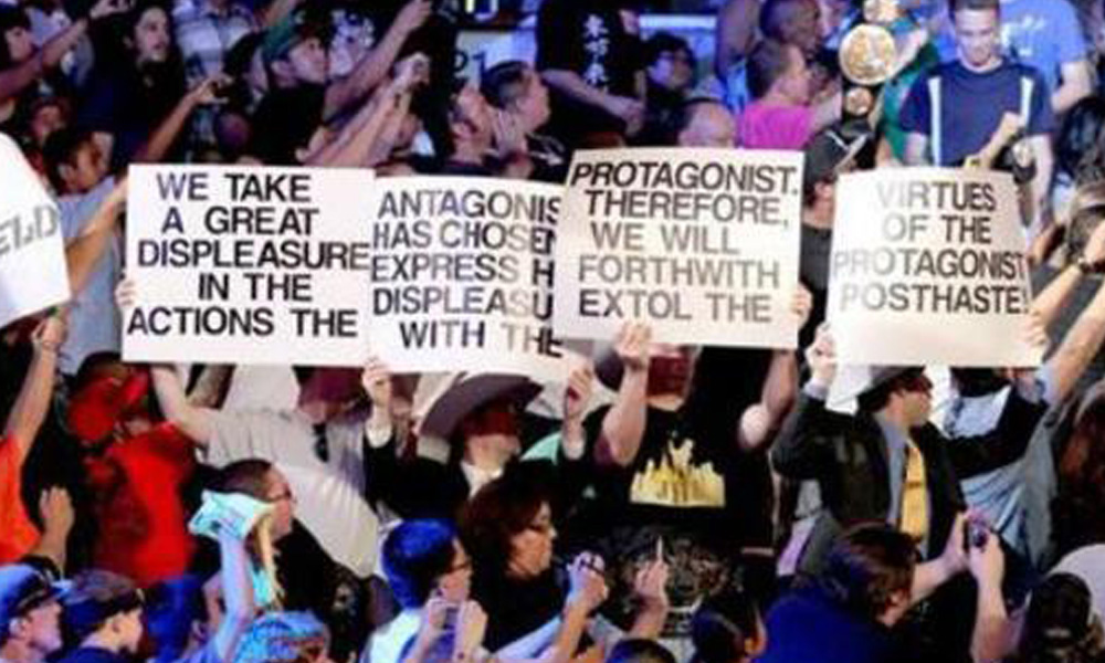 well put protagonist antagonist funny wwe signs