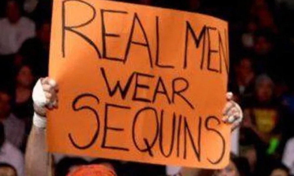 wwe fashion sense funny fan signs