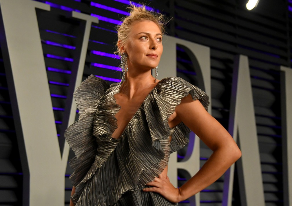 aria Sharapova attends the 2019 Vanity Fair Oscar Party