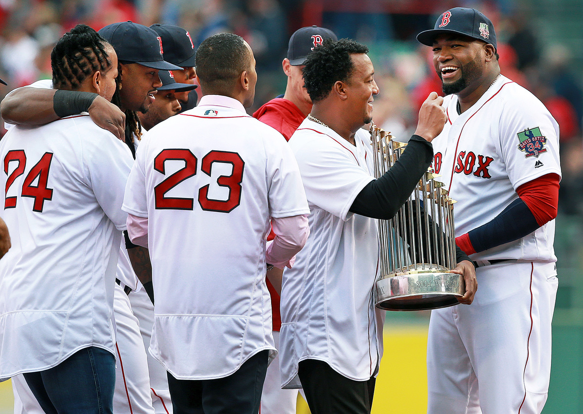 Boston Red Sox 2004 World Series trophy