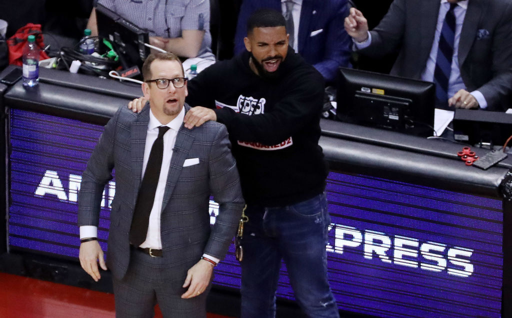 drake eastern conference finals giving back rub
