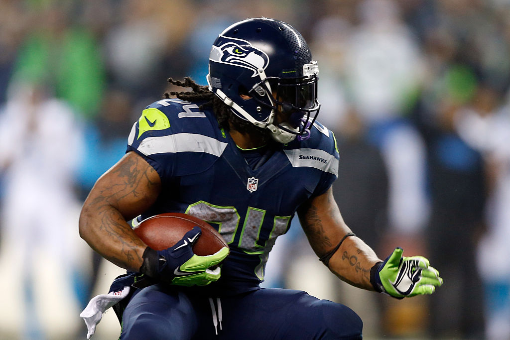Marshawn Lynch Running Seattle
