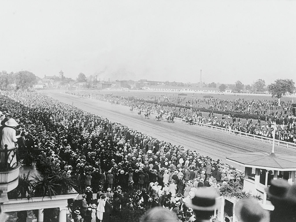 Kentucky Derby Early 20th Century black and white