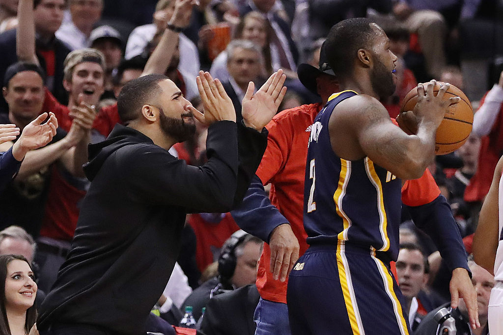 drake clapping at rodney stuckey