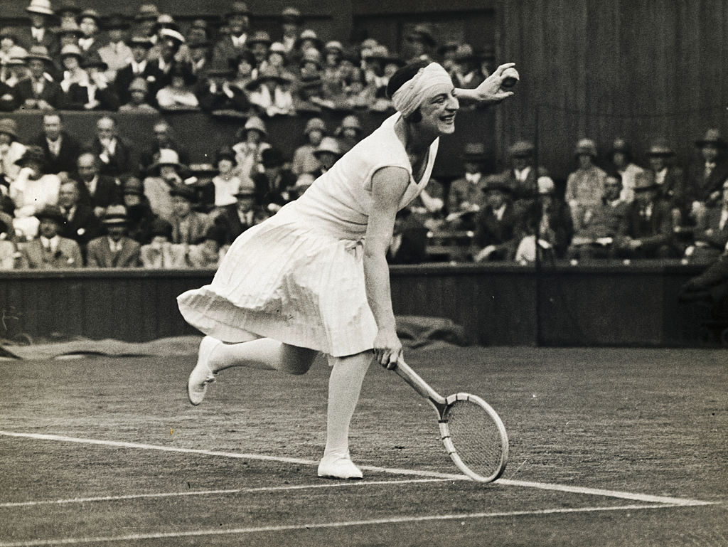 suzanne lenglen at the french open where she won a record setting six women's singles titles