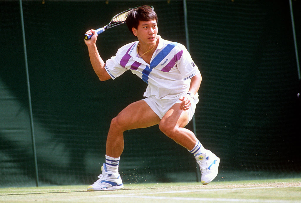michael chang at the french open in 1990 where he become the youngest male to ever win a grand slam title