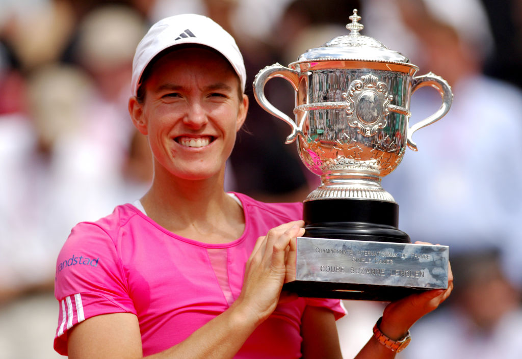 justine henin french open winner of most consecutive women's singles titles