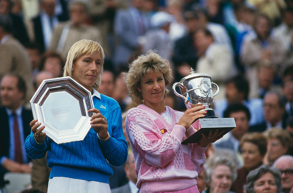 Chris Evert def. Martina Navratilova  2-6, 6-3, 6-3