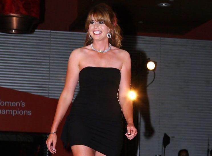 Paula Creamer red carpet