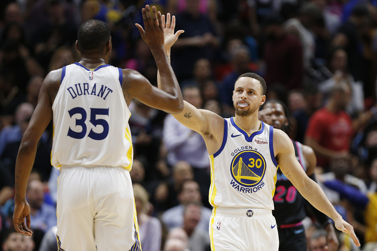 stephen curry and kevin durant joined forces to win the NBA title in 2017