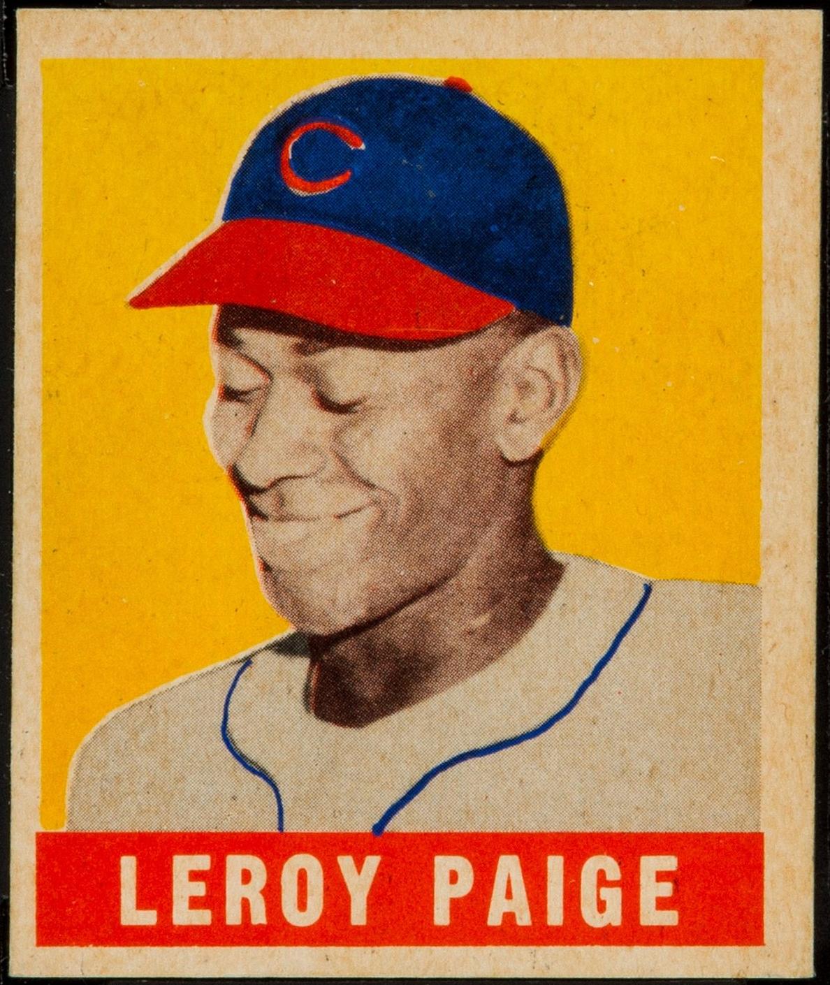 1948_Leaf_Satchel_Paige rookie card