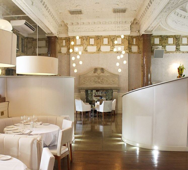 rosso restaurant with the lavish dining area