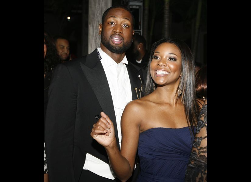 Dwyane Wade and Gabrielle Union posing together