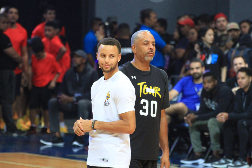 dell curry taught his boys how to play basketball