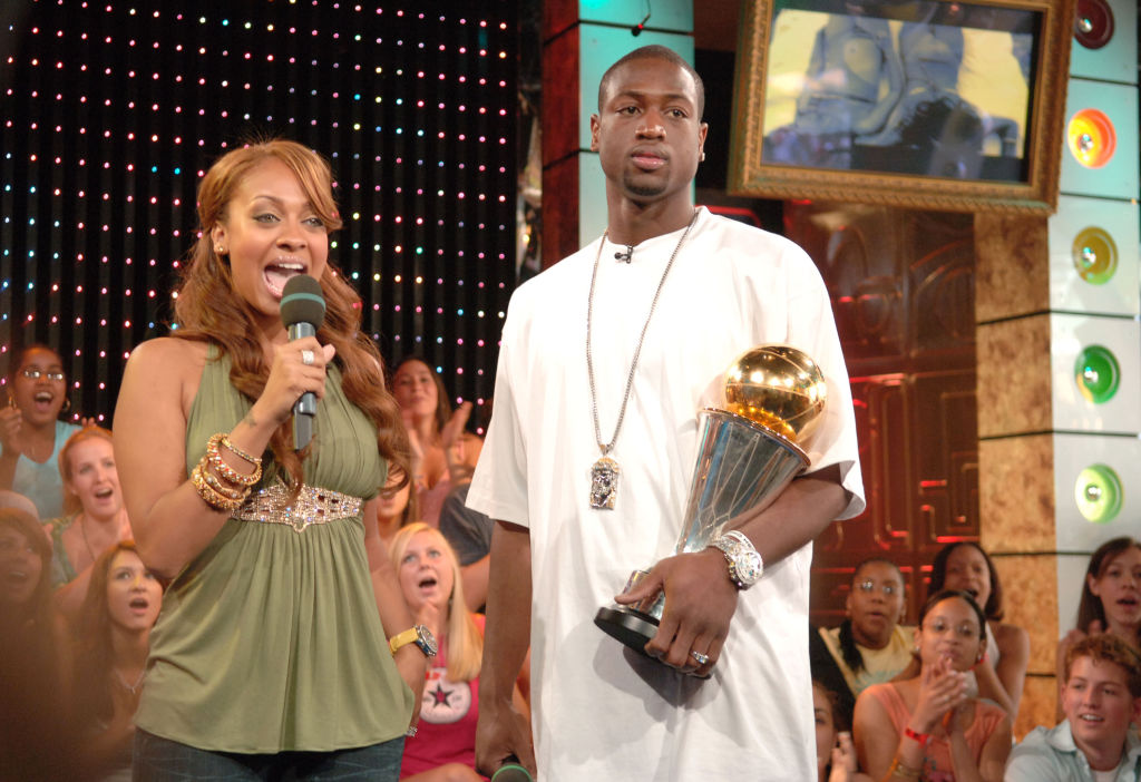Dwyane Wade during Nelly Furtado, Timbaland, Adam Sandler, Kate Beckinsale and Dwyane Wade Visit MTV's