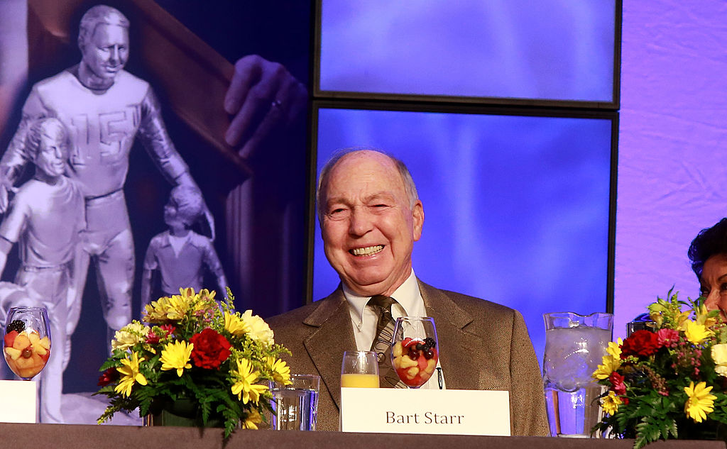 bart starr at the super bowl breakfast in 2013 just before his health started failing him