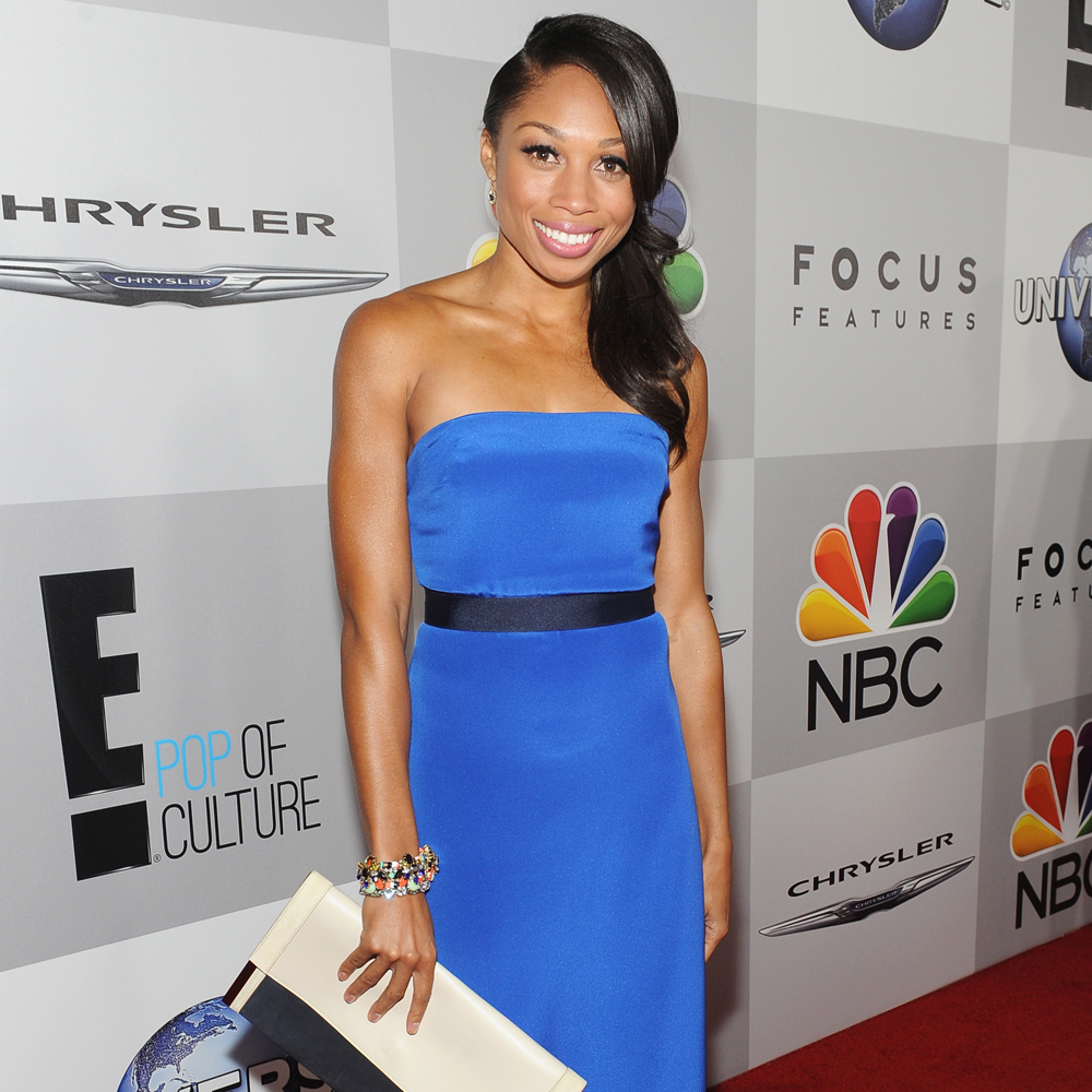 Allyson Felix attends the Universal, NBC, Focus Features, E!