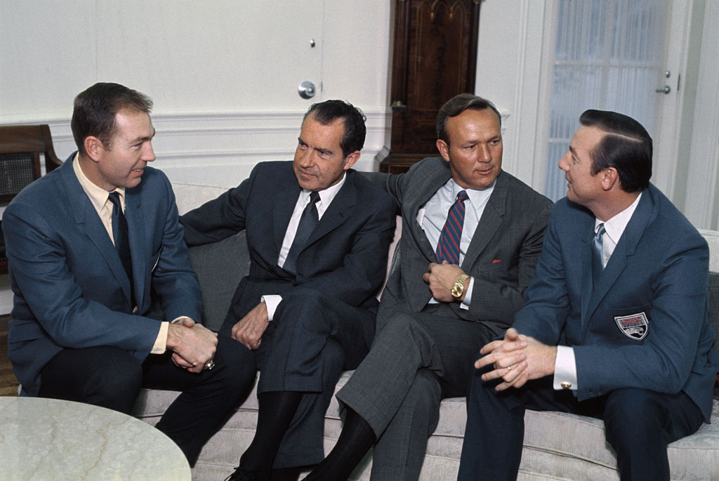 bart starr and richard nixon meeting in DC for the first time