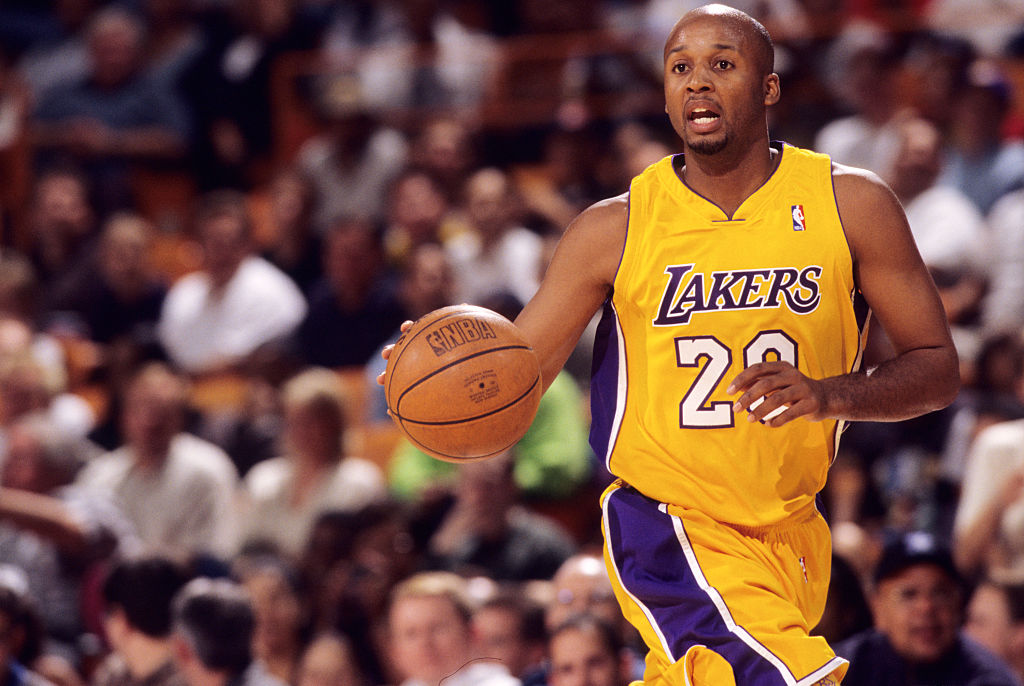 Brian Shaw during a National Basketball Association game at the Great Western Forum in Los Angeles