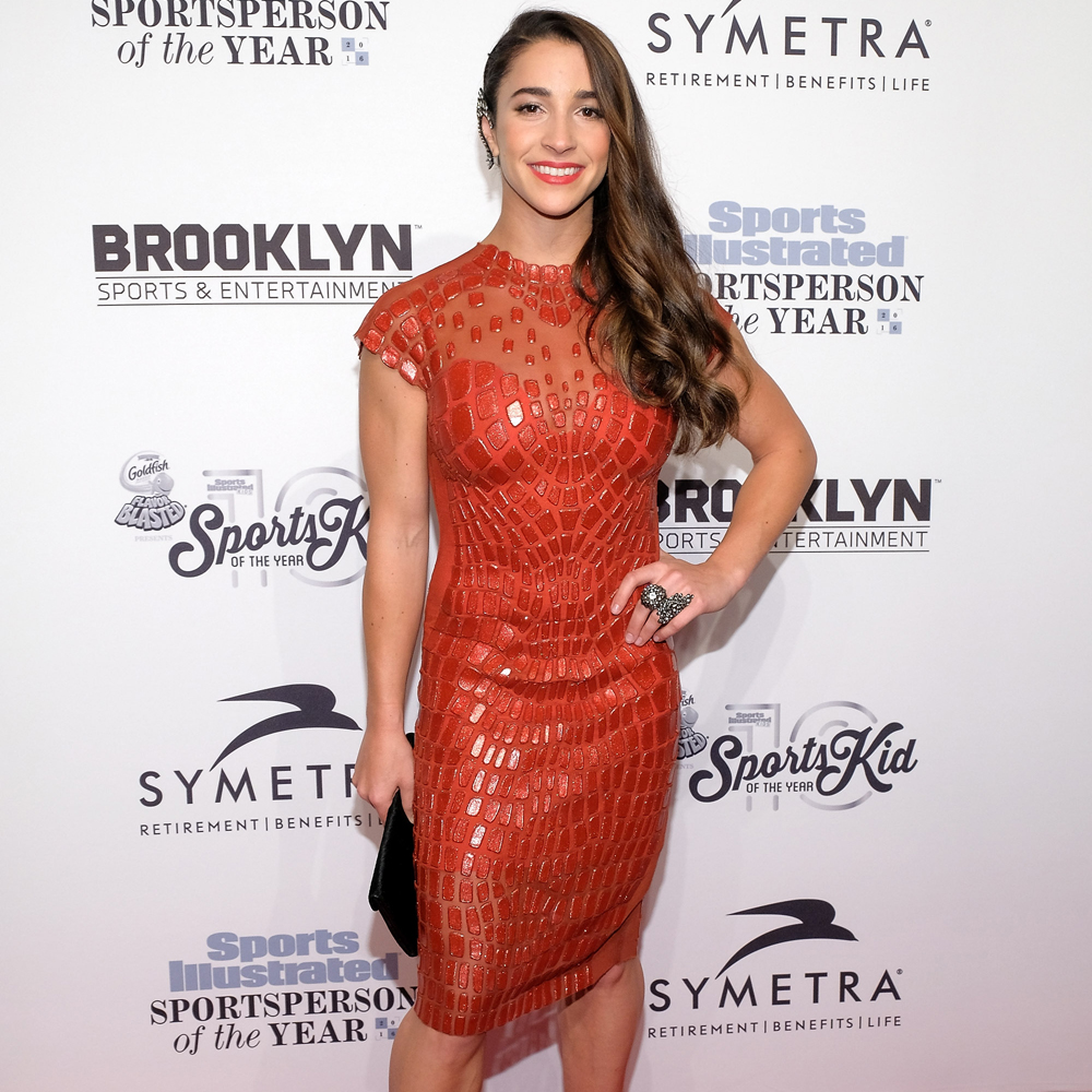 Aly Raisman attends the 2016 Sports Illustrated Sportsperson of the Year