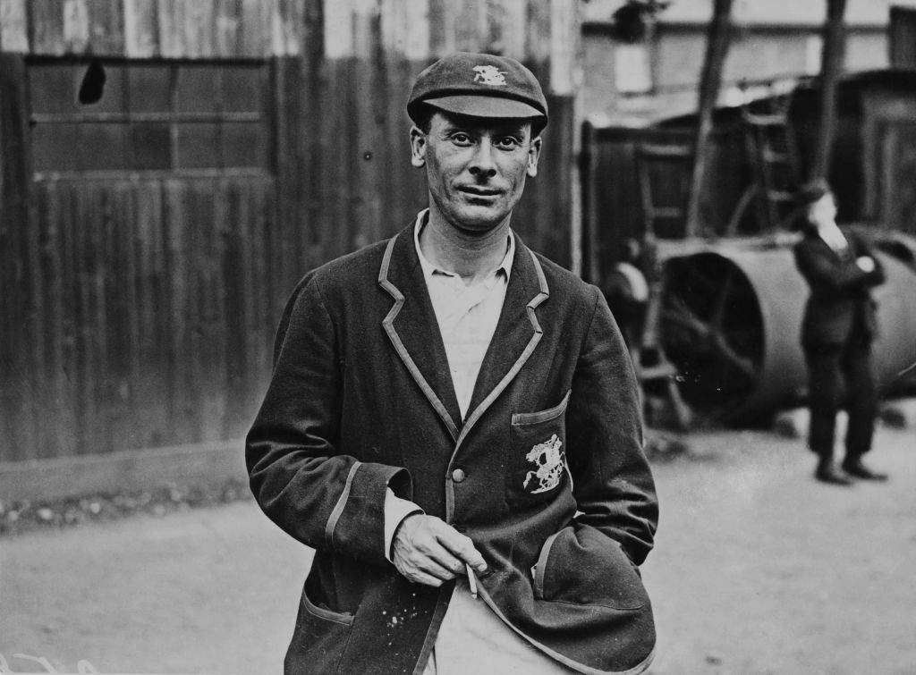 Jack Hobbs at Blackheath, London, where he is playing for Surrey against Kent