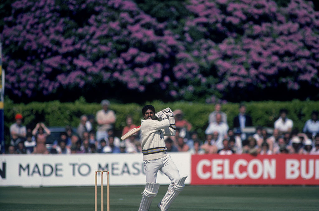 Kapil Dev during his record innings of 175 not out off