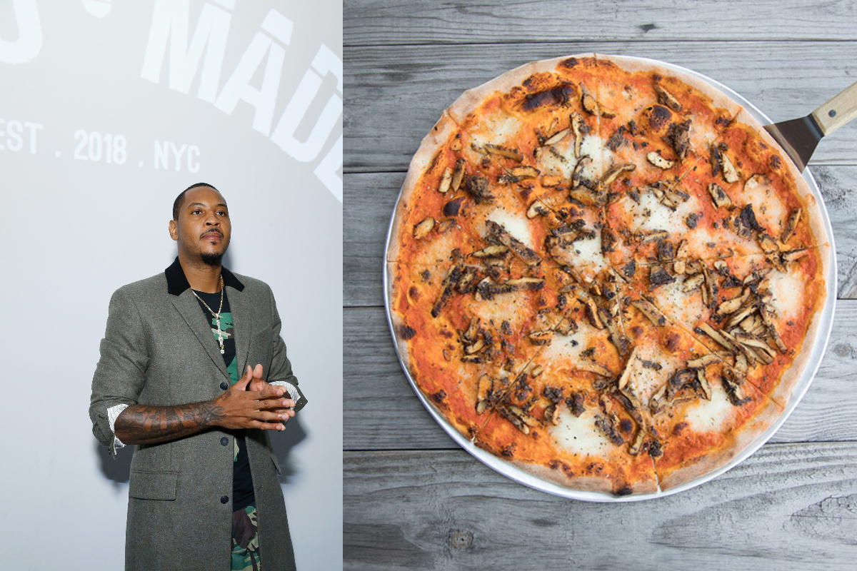 Carmelo Anthony excited about nobody's pizza in south bronx