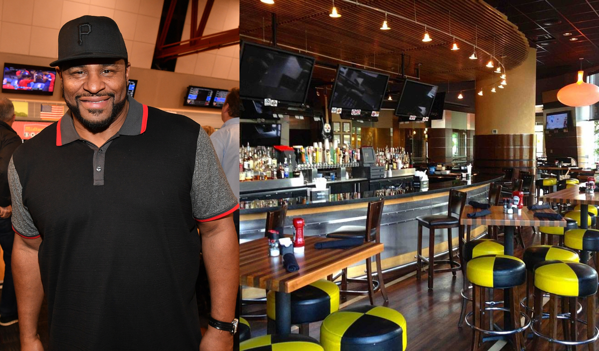 Jerome bettis and his Jerome Bettis Grille 36 in Pittsburgh