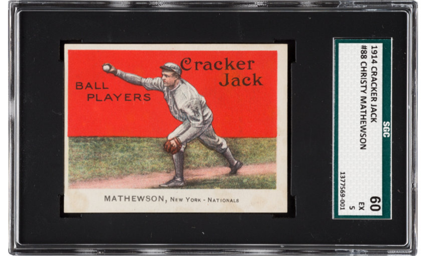 cracker jack christy matthewson baseball card