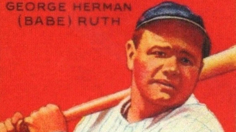 red ruth baseball card