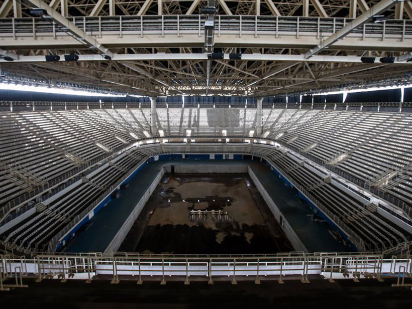 rio olympic pool abandoned stadium