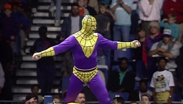 Arachnaman in the wcw