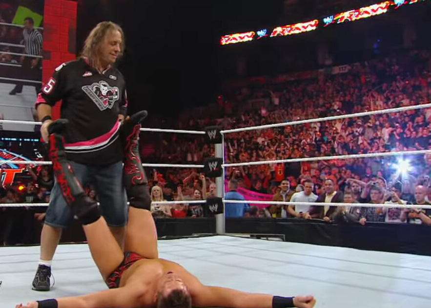 bret hart wears jordans in the ring