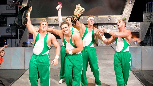 the spirit squad in the world tag team championship