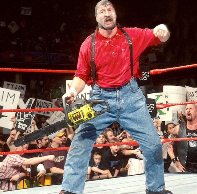 chainsaw charlie was played by terry funk