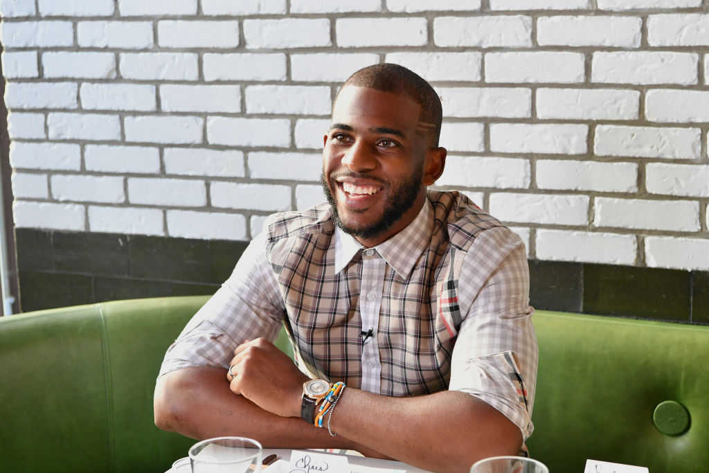 Athlete and designer Chris Paul attends the FIVE FOUR x Chris Paul Launch Dinner-698880584