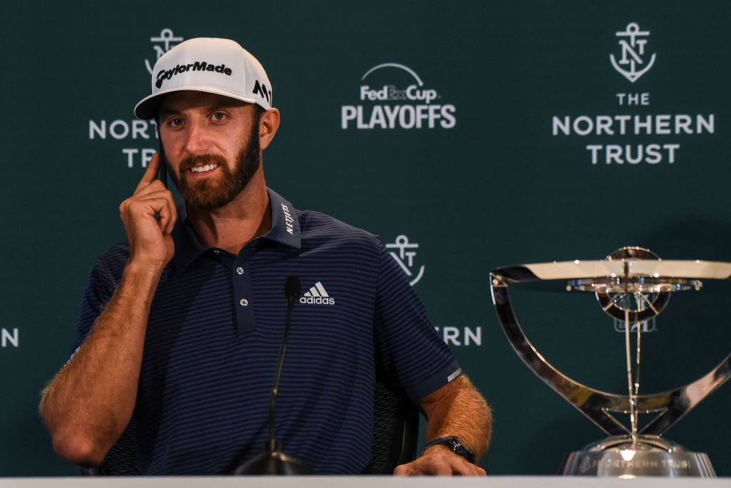 dustin johnson and social media use