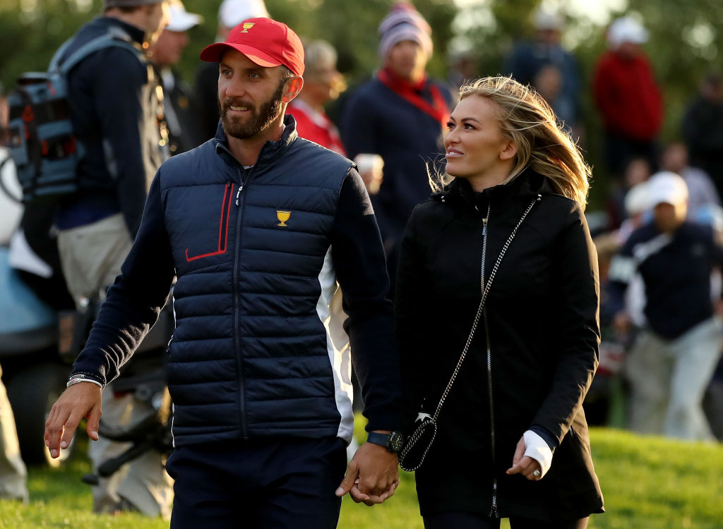 dustin johnson and paulina gretzky living walking distance from Janet and wayne