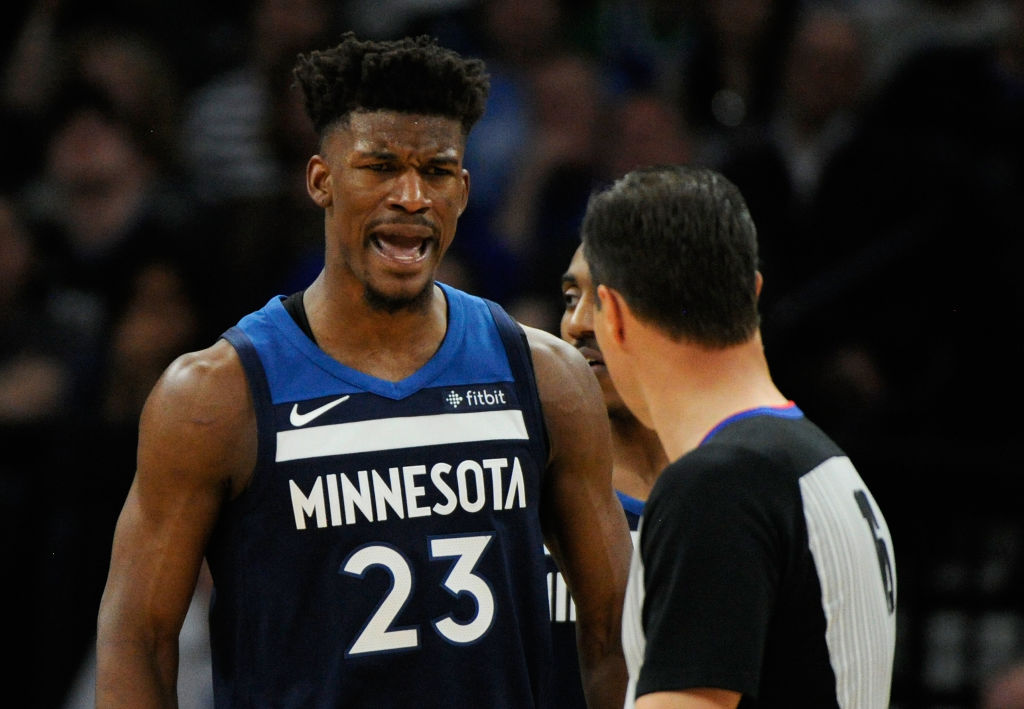 jimmy butler on the timberwolves mad-950491216