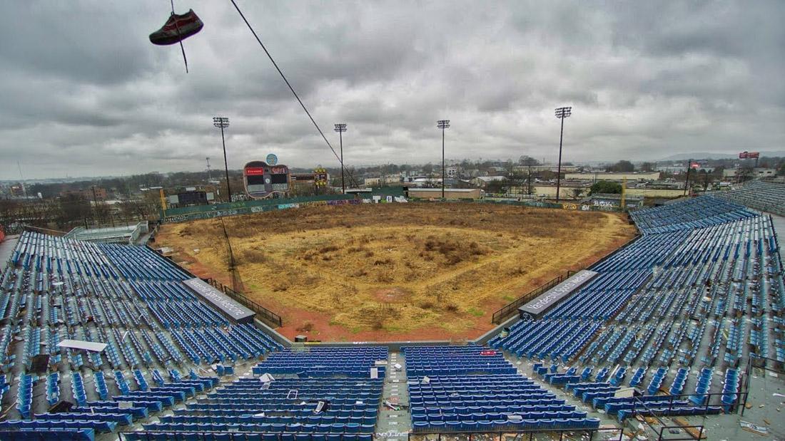 Herschel Greer Stadium abandoned