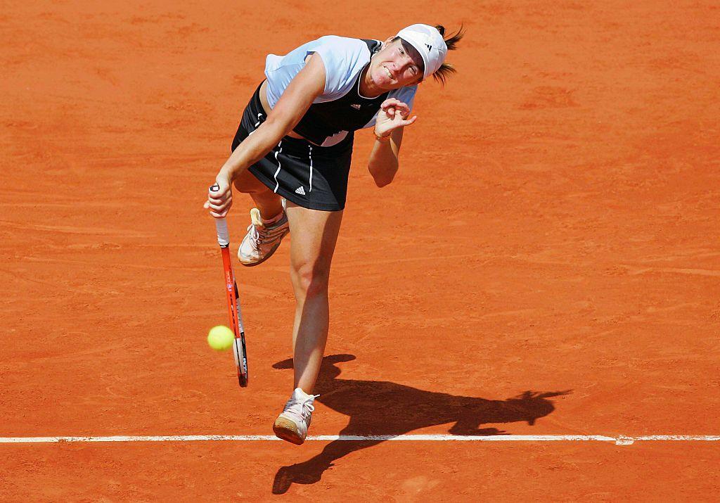 Belgium's Justine Henin-Hardenne competes