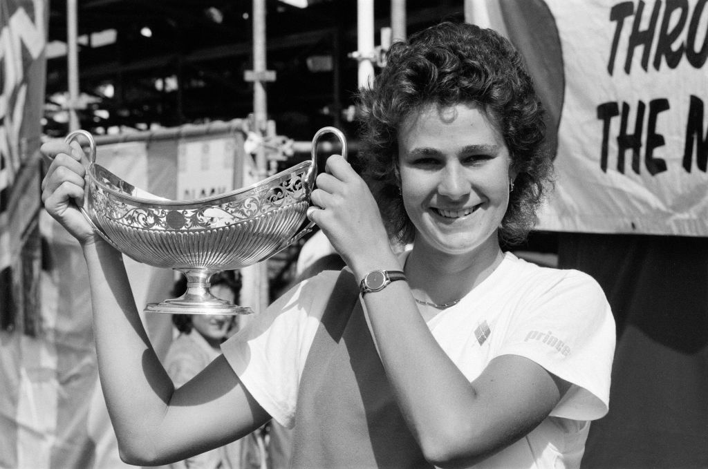 pam Shriver, winner of the Women's Singles final
