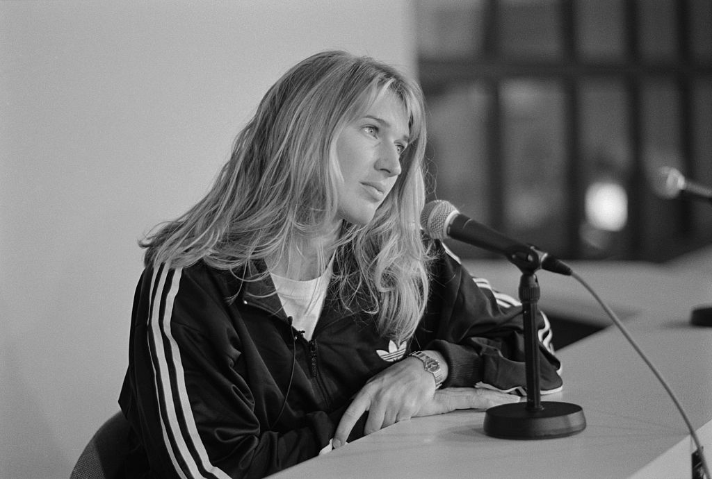 Tennis Player Steffi Graf at Press Conference